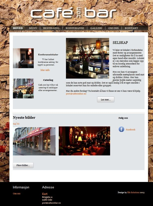 Bar website design