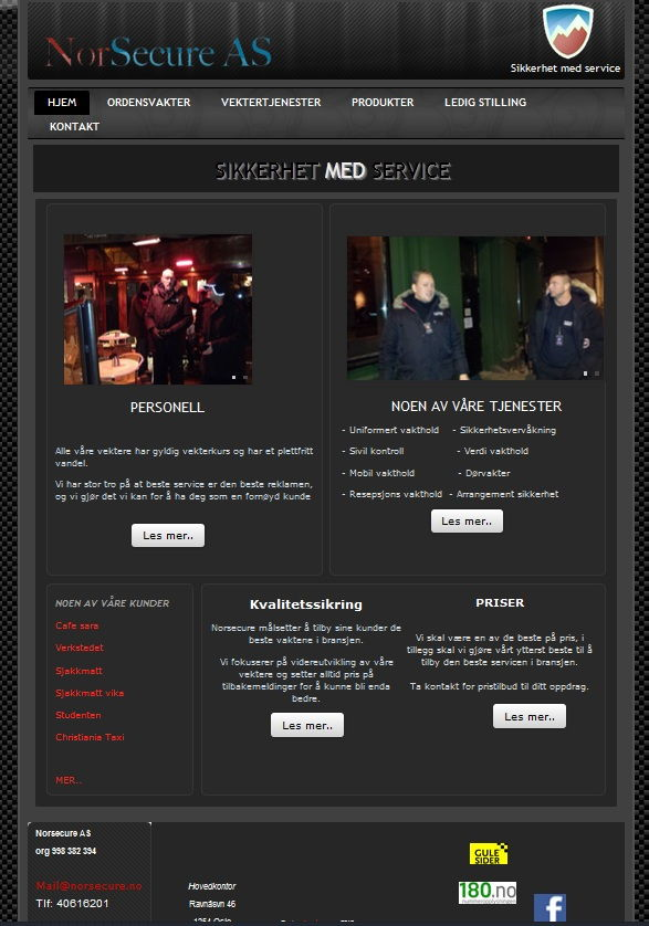 Security firm website